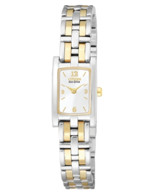 Citizen Watch, Women's Eco Drive Two Tone Stainless Steel Bracelet EG2344-51A