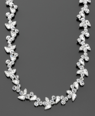 Givenchy Silvertone Crystal Necklace