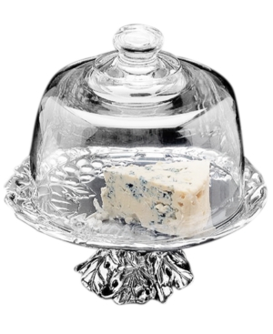 "Arthur Court ""Grape"" Footed Cheese Plate With Dome, 8"""