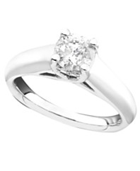 certified diamond engagement ring in 14k white gold 1 ct tw - Macys Wedding Rings