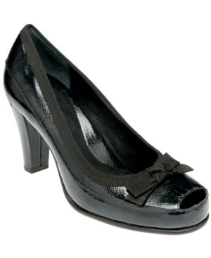 Aerosoles Shoes, Benefit Peep Toe Pumps Women's Shoes - Heels