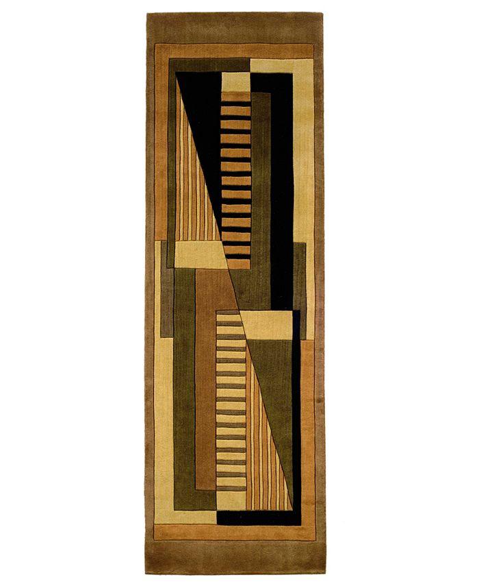 "Momeni - Area Rug, Perspective Camacho Gold 2' 6"" x 8' Runner Rug"