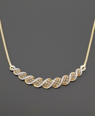 14k Gold Champagne Diamond Necklace (2 ct. t.w.)