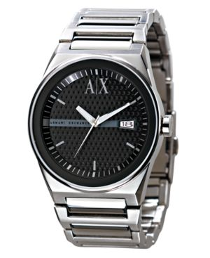AX Armani Exchange Watch, Men's Stainless Steel Bracelet AX2015