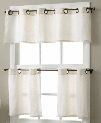 "Elrene Essex Linen Grommet 30"" x 36"" Cafe Curtains Pair"