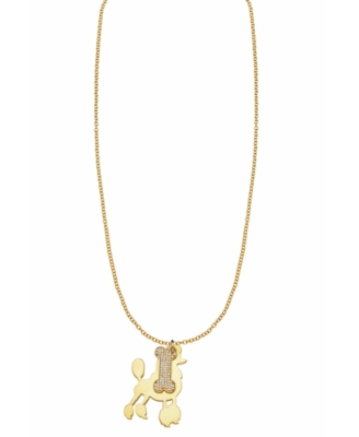 Moschino Cheap and Chic Goldtone Stainless Steel Puppy Pendant Necklace