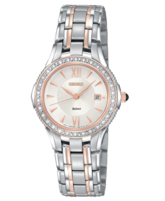 Seiko Watch, Women's Two Tone Stainles Steel Bracelet SXDA84