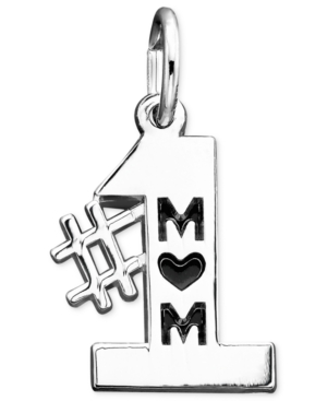 Rembrandt Charms Sterling Silver #1 Mom Charm