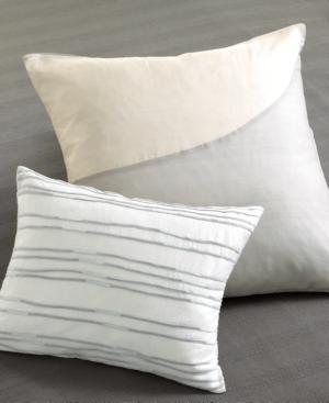 """Calvin Klein Home """"Quince"""" Pieced Silk Decorative Pillow, 20x20"""" Bedding"""