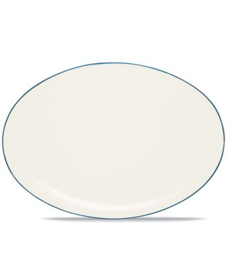 "Noritake ""Colorwave Blue"" Oval Platter, 16"""