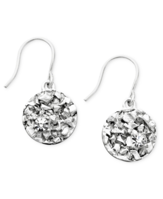 Kenneth Cole New York Textured Silvertone Earrings