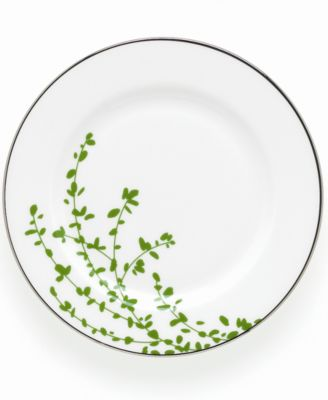 kate spade new york Gardner Street Green Appetizer Plate