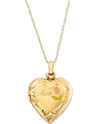 14k Gold Mom Locket