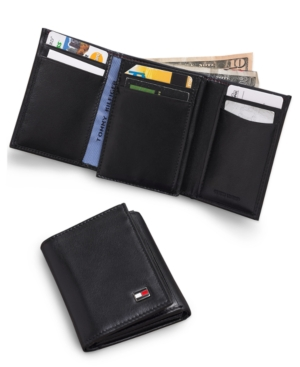 Tommy Hilfiger Oxford Trifold Slim Wallet