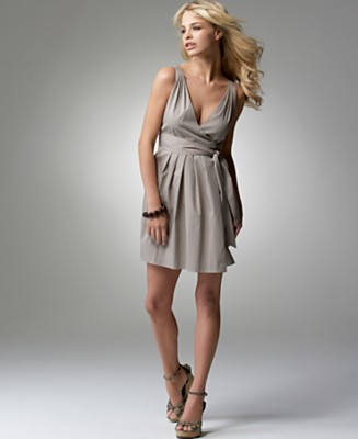 BCBGeneration Sleeveless Wrap Dress - Contemporary Sportswear Dresses - Women's  - Macy's :  contemporary sleeveless elegant clothing