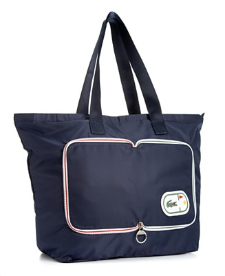 "Lacoste ""Croc Pocket"" Shopper - Totes & Top Handles - Handbags & Accessories  - Macy's from macys.com"