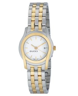 Gucci Watch, Women's G Class Collection Stainless Steel and Gold Plated Bracelet YA055520