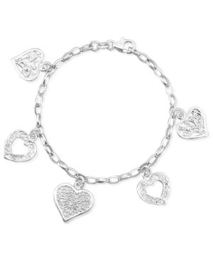 Giani Bernini Sterling Silver Bracelet, Heart Charm