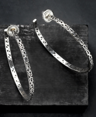 LOIS HILL Sterling Silver Large Hoop Earrings