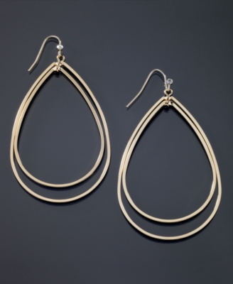 GUESS Goldtone Teardrop Earrings