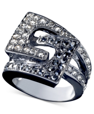 GUESS Crystal Accent Buckle Ring