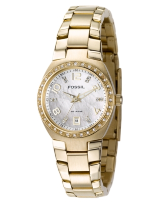 Fossil Watch, Women's Goldtone Stainless Steel Bracelet AM4219