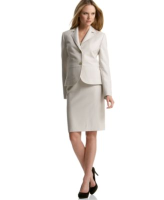 Calvin Klein Two-Button Skirt Suit