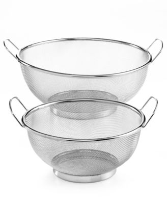 Martha Stewart Collection Mesh Colanders, Set of 2