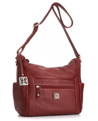 Giani Bernini Handbag, Pebble Leather Side Pocket Hobo