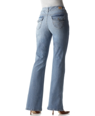 BandolinoBlu Jeans, Arianna Flap Pocket Boot Cut, Classic Wash