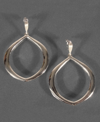 Etienne Aigner Silvertone Dangle Earrings