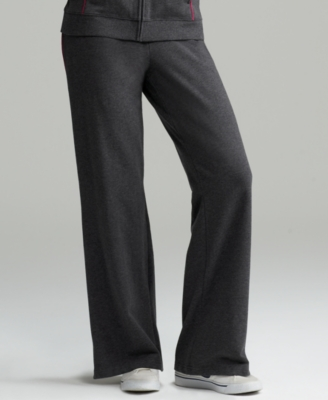 Style&co. Sport Petite Pants, Stretch Cotton Piped