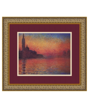 Amanti Art Dusk, Sunset in Venice, 1908 Framed Art Print by Claude Monet