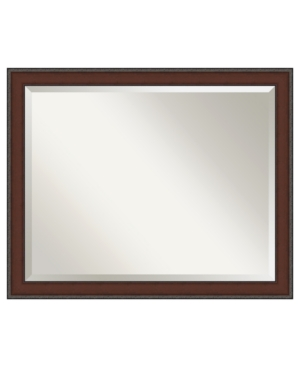 Amanti Art Country Walnut Wall Mirror, Extra Large