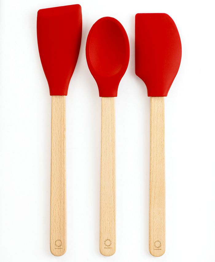 Martha Stewart Collection - Utensils, Set of 3 Silicone Beechwood