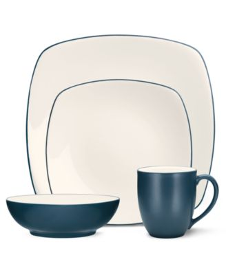 Noritake Dinnerware, Colorwave Blue Square 4 Piece Place Setting