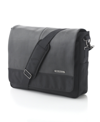 Ben Sherman Bag, Leather & Nylon Premium Messenger