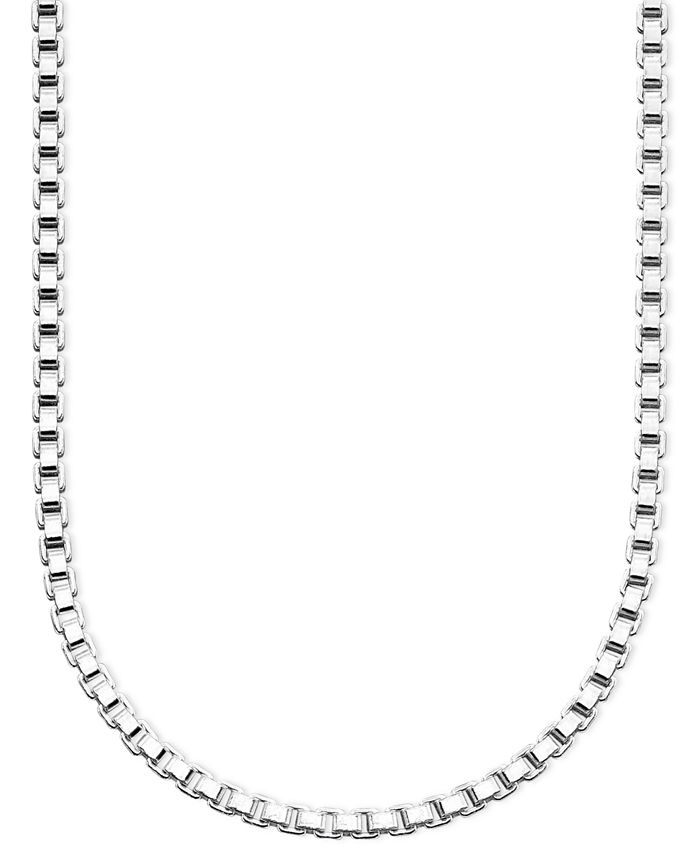 "Giani Bernini - Sterling Silver Necklace, 30"" Box Chain"