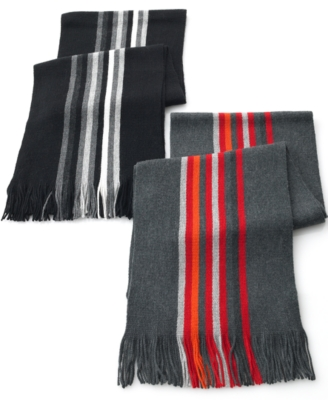 Nautica Scarf, Striped Fringe - Knit Scarf