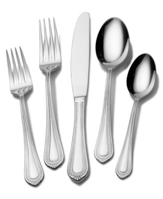 Macy's - Mikasa Flatware 18/10 Regent Bead 65 Piece Set customer ...