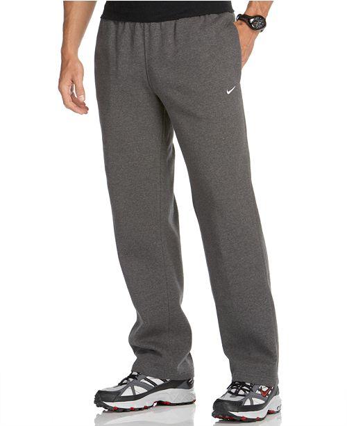 Nike Men's Classic Fleece Open-Hem Sweatpants & Reviews ...