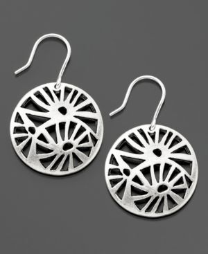 Kenneth Cole New York Earrings, Filigree Silvertone