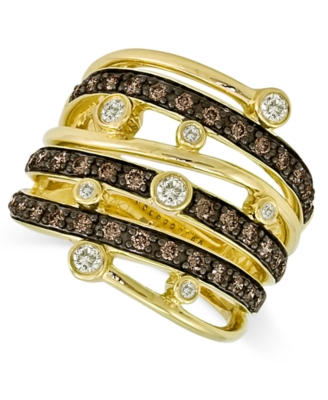 Le Vian 14k Gold Ring, Chocolate Diamond Row (3/4 ct. t.w.)