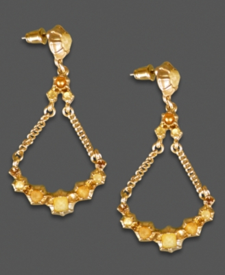 Jessica Simpson Earrings, Goldtone Chandelier