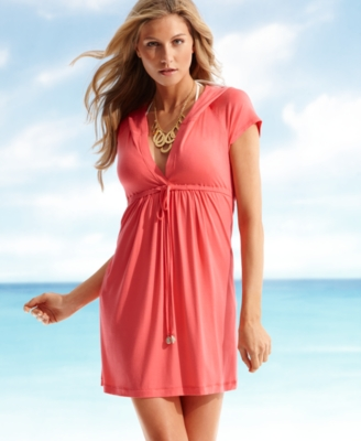 Dotti Cover Up, Hooded Knit Dress Women's Swimsuit - Swimwear