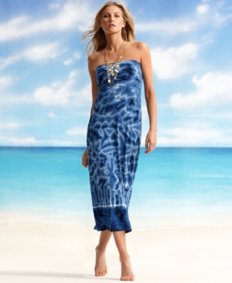 Lucky Brand Jeans Cover Up, Tie Dyed Tube Skirt/Dress Women's Swimsuit