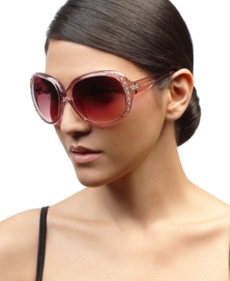 Steve Madden Sunglasses, Oversized Round with Rhinestones