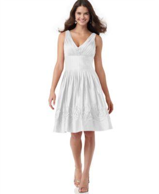 Suzi Chin Dress, Sleeveless Rosette Cocktail Dress