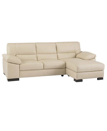 Spencer leather 2 piece sectional sofa one arm loveseat for One arm sofa chaise