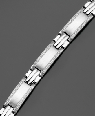 Stainless Steel Bracelet, Diamond (1 ct. t.w.)